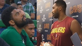Kyrie Irving Mocks Tristan Thompson Gets Booed By Celtics Crowd For Trash Talking!