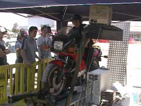 Kawasaki GPZ750 turbo on the dyno at Gold Coast Bike Week
