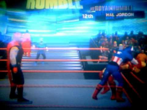 SMACKDOWN VS RAW 2011 CAW JLA AVENGERS X-MEN 30 MAN PART 1