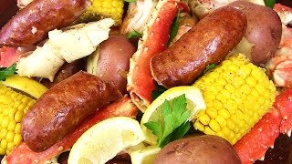 Seafood Boil Crab Sausage Shrimp  Potatoes Oh My  Cooking With Carolyn