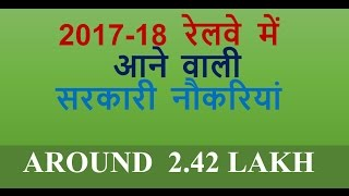 Upcoming Railway Recruitment Notification 2017 | Upcoming Government Jobs 2017 - 18