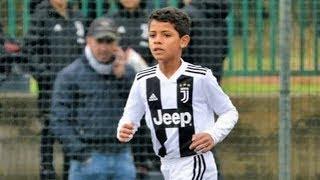 إبن كريستيانو رونالدو.. يتفوق على أبوه بالمهارات والاهداف.. ملك كرة القدم المستقبلي !!