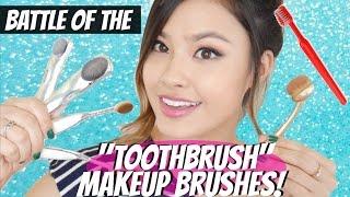 Battle of the Toothbrush Makeup Brushes! Artis vs. Etude House | East vs. West