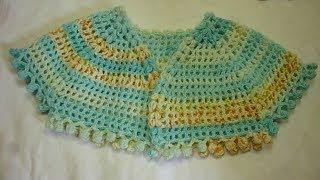بوليرو جاكيت كروشيه قبة سبعةجميع المقاسات وشغل البنبون للحافة bolero crochet