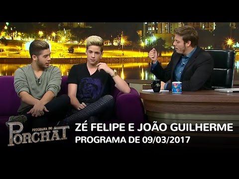 Programa do Porchat (completo) - Zé Felipe e João Guilherme | 09/03/2017