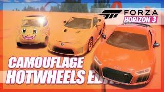 Forza Horizon 3 - Camouflage Hot Wheels Edition! (Mini Games & Random Fun)
