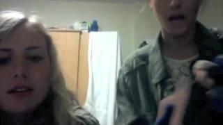 Drunk university babes on webcam