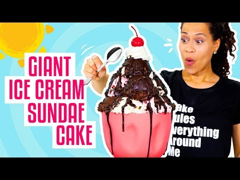 How To Make A Giant Ice Cream Sundae out of CAKE for My BIRTHDAY Yolanda Gampp How To Cake It