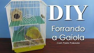 DIY: Forrando a Gaiola do Hamster com Pasta de Polionda
