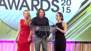2015 XBIZ Awards - Ariel Rebel Wins 'Web Star of the Year' Award