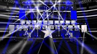 wwe wrestlemania 32 | AJ styles custom entrance stage animation