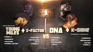 DNA/ K SHINE VS X-FACTOR/ MIDWEST MILES SMACK/ URL RAP BATTLE