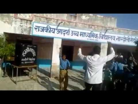 Funny Rajasthani song dance in school on modi song