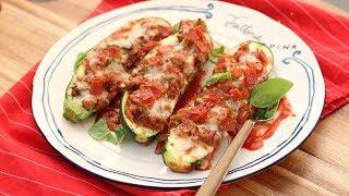 Pizza Stuffed Zucchini Recipe