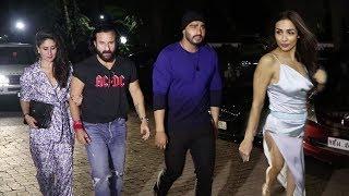 Arjun Kapoor wid Wife Malaika Arora,Kareena & Saif Party TOGETHER after Fixing MARRIAGE date