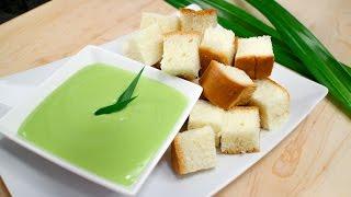 "Pandan Coconut Custard ""Fondue"" Recipe สังขยาใบเตย - Hot Thai Kitchen!"
