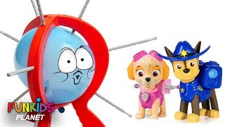 Paw Patrol Skye & Chase Play Boom Boom Balloon POP SURPRISE Challenge: Best Learning Videos for Kids
