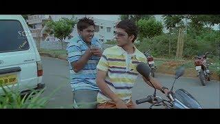 Kannada Comedy Scenes - ಹೆಂಗೋ ಮಗ.. ಮುಂದೆ ನೀನು ಮಧ್ಯ #ಮೀನಾ ಹಿಂದೆ ನಾನು | Josh Kannada Movie