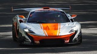 300 km/h Close Fly Bys: McLaren P1 GTR at Monza Circuit!