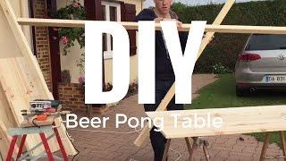 DIY Beer Pong Table (Fabrication d'une table de beer Pong)