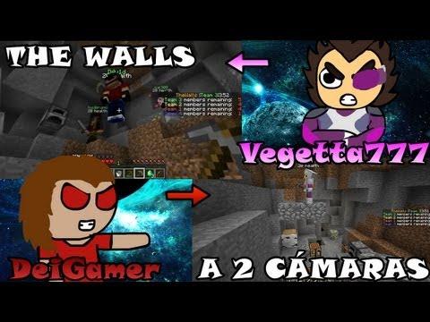 Minecraft THE WALLS Gameplay a 2 cámaras con Vegetta777 Super FAILS c GLITCH BUG LAG
