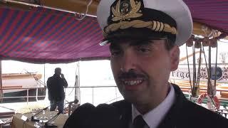 RAVENNA: A vela da Polo Nord, l'Amerigo Vespucci attracca in porto | VIDEO