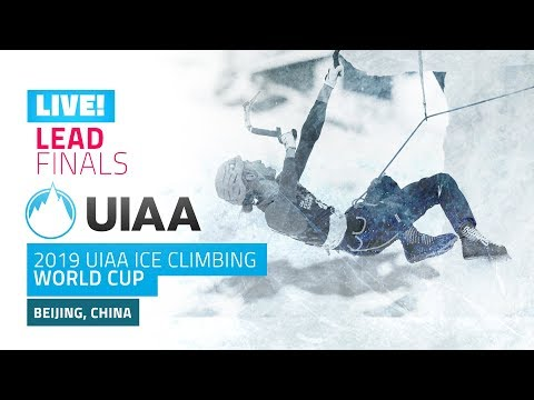 LIVE Beijing China l Lead Finals l 2019 UIAA Ice Climbing World Cup