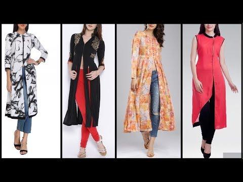 Top Beautiful Kurti / Kurta Designs   Latest long Slit / Front cut kurti Designs for Girls / Women