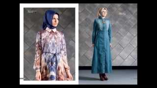 Armine 2015 Kış Yeni Sezon Kataloğu Tesettür Giyim Abiye Elbise Pardesü Yelek Ferace Kap Etek Bluz G