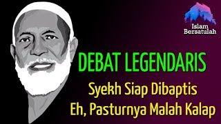 Debat Legendaris 💥 Lawan Siap Dibaptis, Si Pastur Malah Kalap    Mengenang Syekh Ahmad Deedat