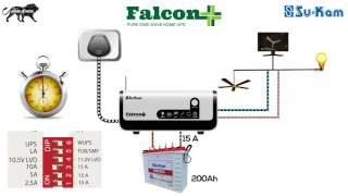 How to Change the settings in Home Inverter/UPS| Su-Kam Falcon+