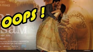 OOPS On Stage KISS By Harshwardhan And Marwa At Sanam Teri Kasam Trailer Launch