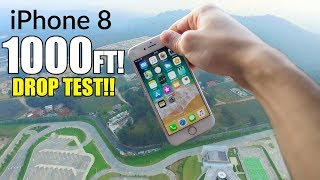 iPhone 8 DROP TEST 1,000 FEET HIGH! - EXTREME REVIEW - 4K