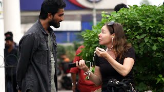 Cutting Peoples Earphones, Then Giving Them Airpods | Yash Choudhary