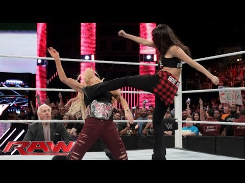 Charlotte makes things even more personal with Brie Bella Raw February 15 2016