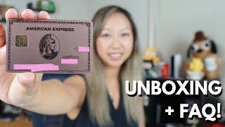 NEW Metal Amex ROSE GOLD Card Unboxing (Limited Edition) + FAQ
