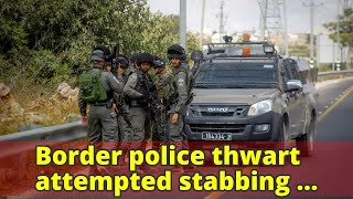 Border police thwart attempted stabbing attack