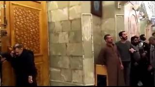 Haram mola Abbas a.s Never seen befor opning of haram door on chelum night