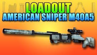 Loadout American Sniper Chris Kyle M40A5 | Battlefield 4 Sniper Gameplay