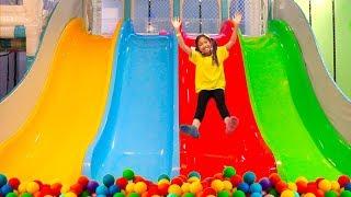 Wendy Pretend Play w/ Indoor Playground & Sings Peekaboo Song for Kids