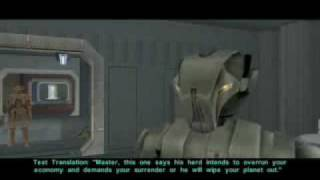 KOTOR 2 Cut Content Droid Translation Training