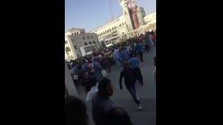اضراب عمالة بن لادن عند الحرم