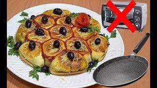 فطيرة المقلاة المحشية بطريقة جديدة حصرية بدون فرن مميزة سريعة بحشوة لذيدة / فطائر رمضان
