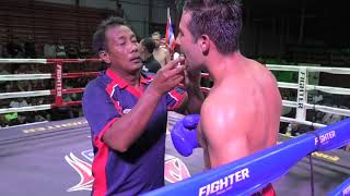 Hylon (Sinbi Muay Thai) from South Africa  takes a points loss at Rawai Boxing Stadium