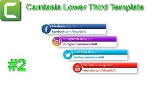 Camtasia Sosyal Medya Lower Third Template #2