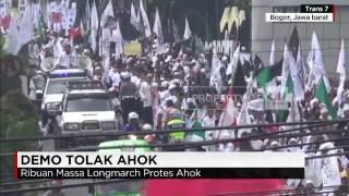 Ribuan Massa Longmarch Protes Ahok di Bogor