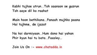 BAARISH Full Song Lyrics Movie - Half Girlfriend | Ash King, Shashaa Tirupati