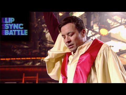 Jimmy Fallon s Like A Prayer vs Dwayne Johnson s Stayin Alive Lip Sync Battle