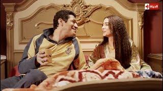 الزوجة التي يتمناها كل رجل ... مشهد رومانسي بين روجينا وباسم سمرة #بين_السرايات
