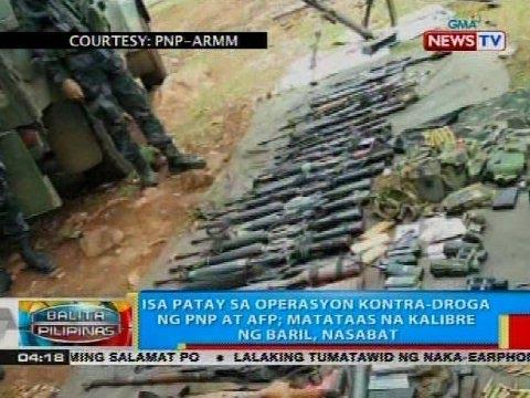 BP: Isa patay sa operasyon kontra-droga ng PNP at AFP